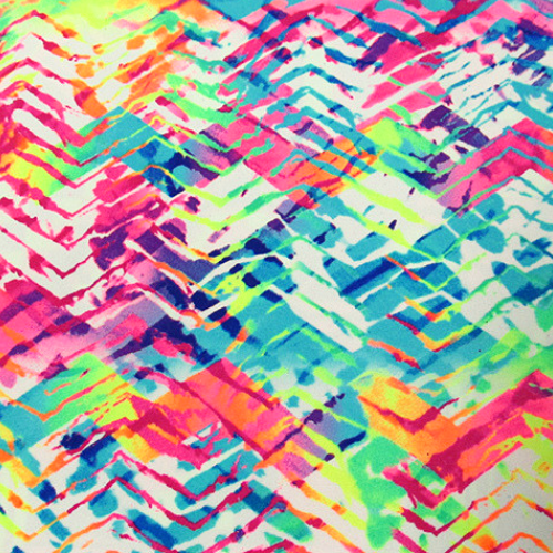 Tie Dye Fabric, Neon Tracks Spandex, rainbow fabric