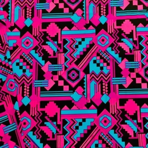 Santa Fe Spandex, Geometric fabric, neon fabric