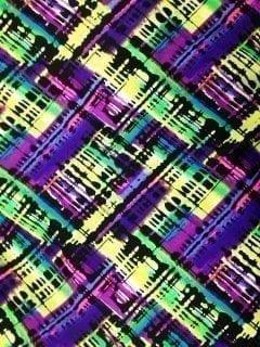 Torn Rainbow Spandex, Abstract fabric, rainbow print fabric