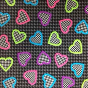 Houndstooth Heart | BTP051C1 *item discontinued, stock may still be available*