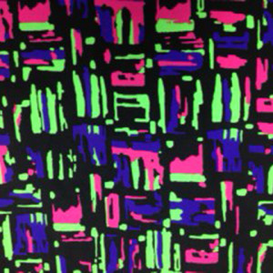 Neon Scribble Boxes on Black Spandex | Scribble Boxes