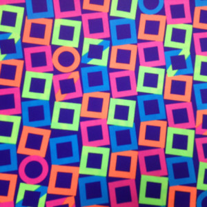 Neon Squares Fabric | Stacked Squares