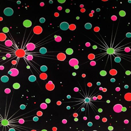 Neon Large Polka Dot Print   Galactic