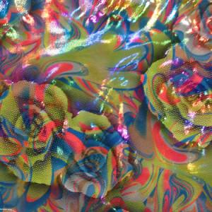 Neon Rainbow Floral Liquid Print