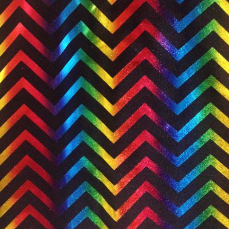 Rainbow Foil Chevron