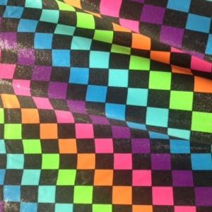 Checkered Rainbow Spandex | Checkered Rainbow Spandex Print