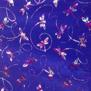Metallic Dragonfly Spandex| Dragonfly Print Fabric