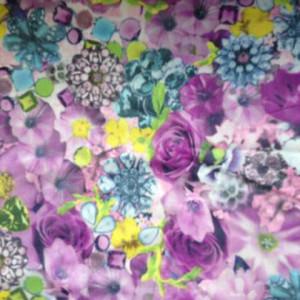 Dark Floral Print on Stretch