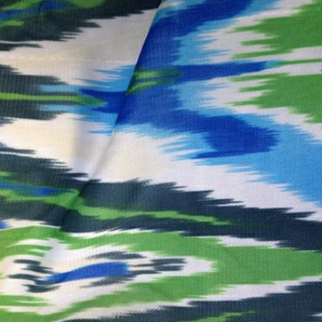 Blues and Greens Print on Stretch