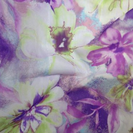 Purple and White Floral Print