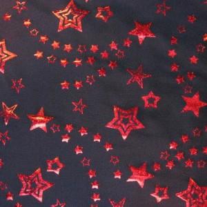 Foil Stars Stretch Fabric