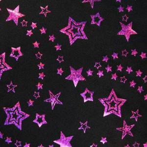 Foil Stars Stretch Fabric | GTNF1004C1