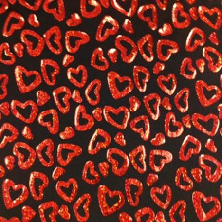 Shiny Foil Hearts