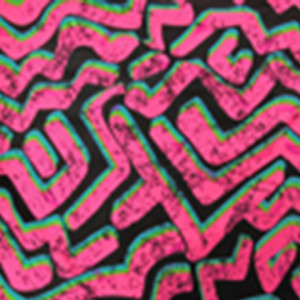 hot-pink-florescent-zig-zag-pattern-with-lime-green-and-blue-shadows-on-black-stretch-fabric