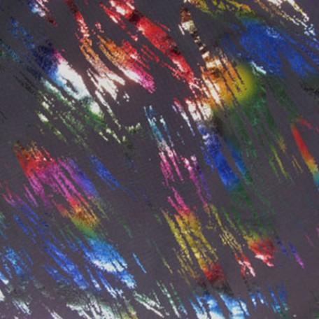 Rainbow Foil Brushstrokes