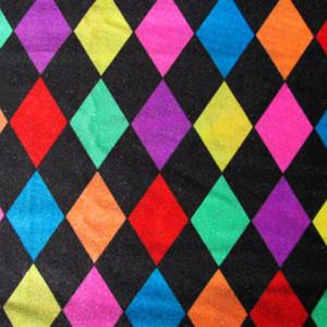 Colorful Diamond Checkered Print | Mardi Gras Diamond Check Print