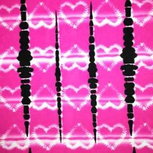 Distressed Tye-Dye Print | Tie Dye Heart Print
