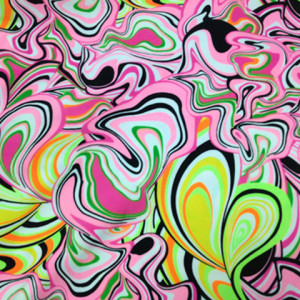 Multi-Colored Marble Spandex | Melted Crayon Print