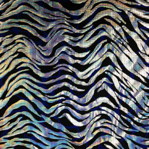 Hologram Squiggles Fabric | Silver Hologram Fabric