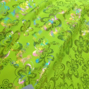 FTF1399C2 70s floral- carnivale on Neon Yellow (poly base)
