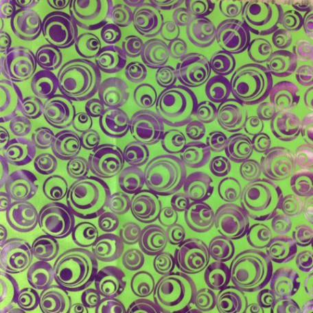 Oblivion foiled triot purple and silver foil on lime
