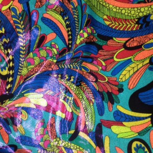 Cartoon Peacock Feathers Spandex| Peacock Feathers Print Fabric