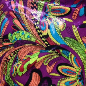 peacock feathers print fabric