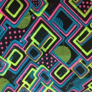 Multi Color Geo Pattern Print