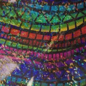Geo Shimmer Print | Fractal Shimmer Spandex Print