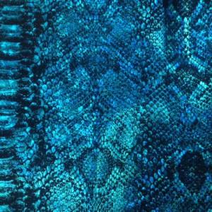 Blue Metallic Snake Skin | Snake Skin Holo