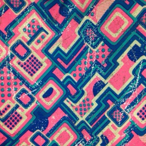 Multi Color Geo Pattern Print| Half Pipe with Foil