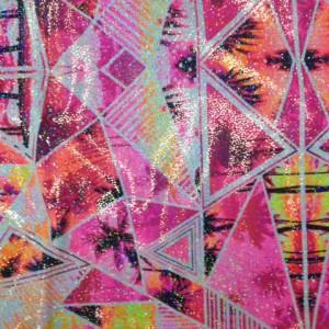 Bright Geo Palm Tree Fabric | Palm Tree Neon