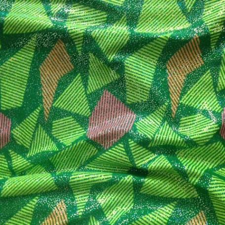 Geometric Shapes with Lines Fabric | Geometric Stripe Pattern Fabric