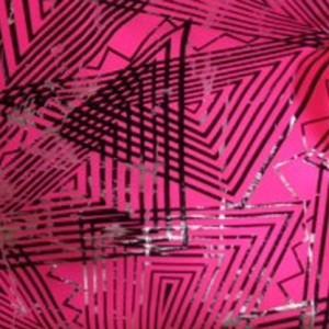 Metallic Triangle Fabric | Angular Foil