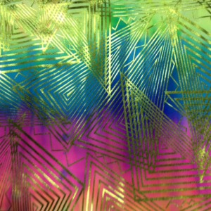 Metallic Foil Tie Dye Fabric