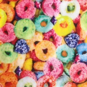 Cereal Print Fabric | Diamond Fruit Loop