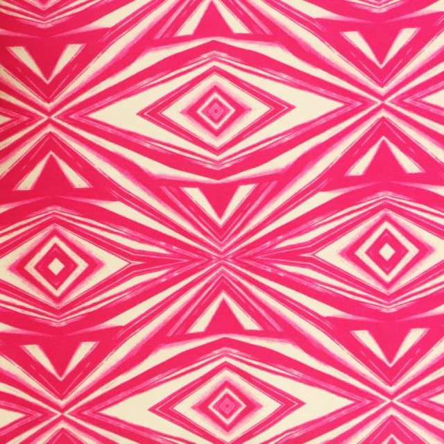Hot Pink Reflector Spandex, Abstract fabric, geometric fabric, discount fabric