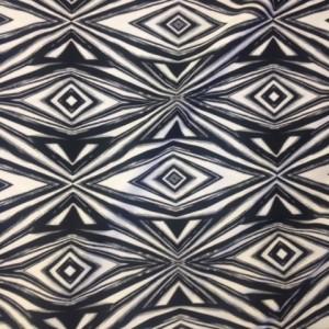 Black White Diamonds Fabric | Reflector Athletic Print