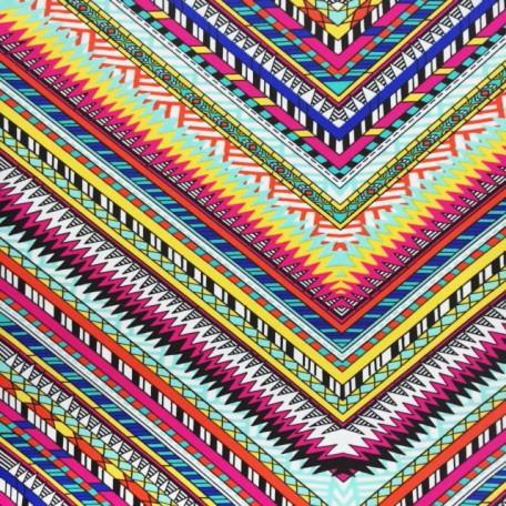 Multi-Pattern Chevrons Print | Ethnic Zig Zag