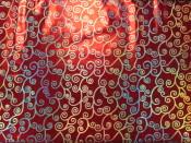 Silver Swirls on Sparkle Fabric | Silver Swirls