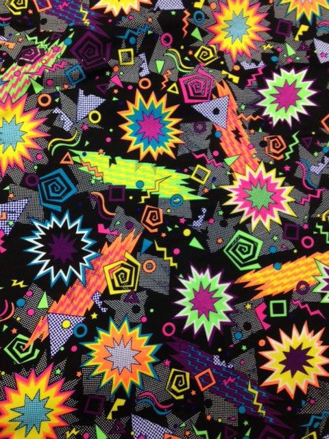 Zack Attack Spandex, comic fabric, dance fabric