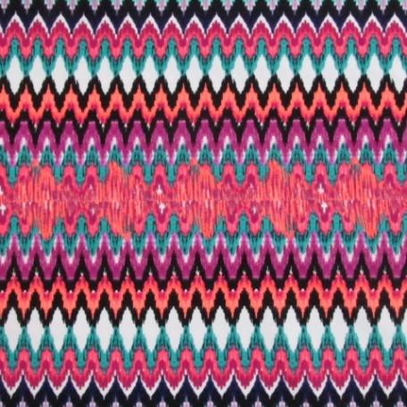 Colorful Illusion Fabric | Bendy Zig Zag