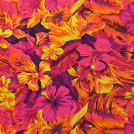 *Discontinued - Limited Yardage!* BTP069C4 | Tahitian Floral | Pink/Orange
