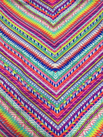 Colorful Zig Zag Fabric