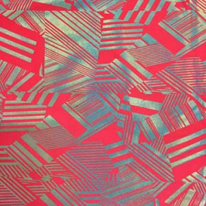 Neon Triangle lines Fabric | Darth Holo