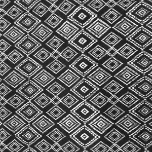 Black and White Aztec Print | Diamond Aztec