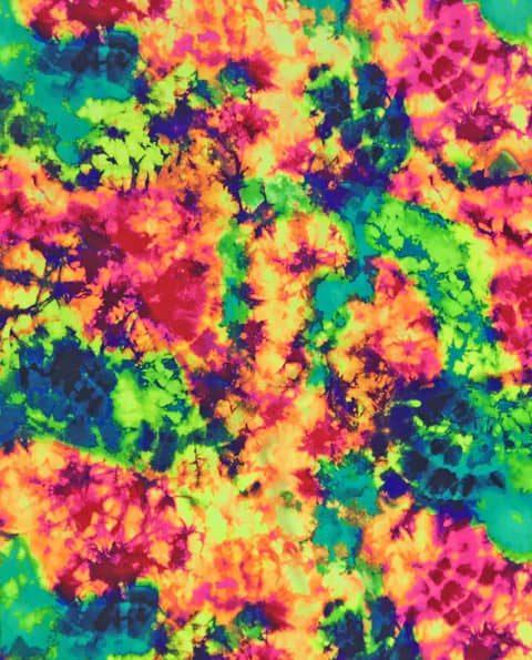 Neon Tie Dye Spandex, Tie dye fabric, neon fabric