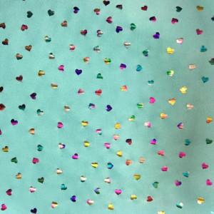 Multi Colored Heart Fabric
