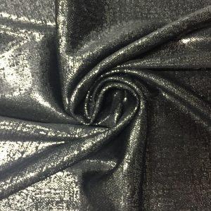 Black Silver Foil Spandex