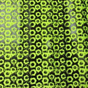 Black and Neon Yellow Foil Print
